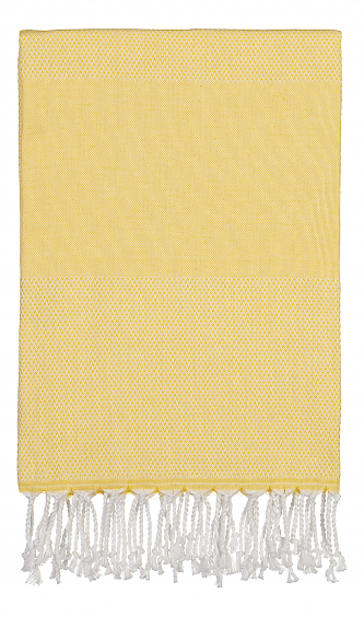 Langø - Beach towel - yellow